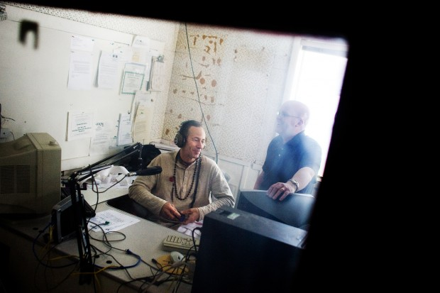 Hanuman and Jerry in the Old Radio Station