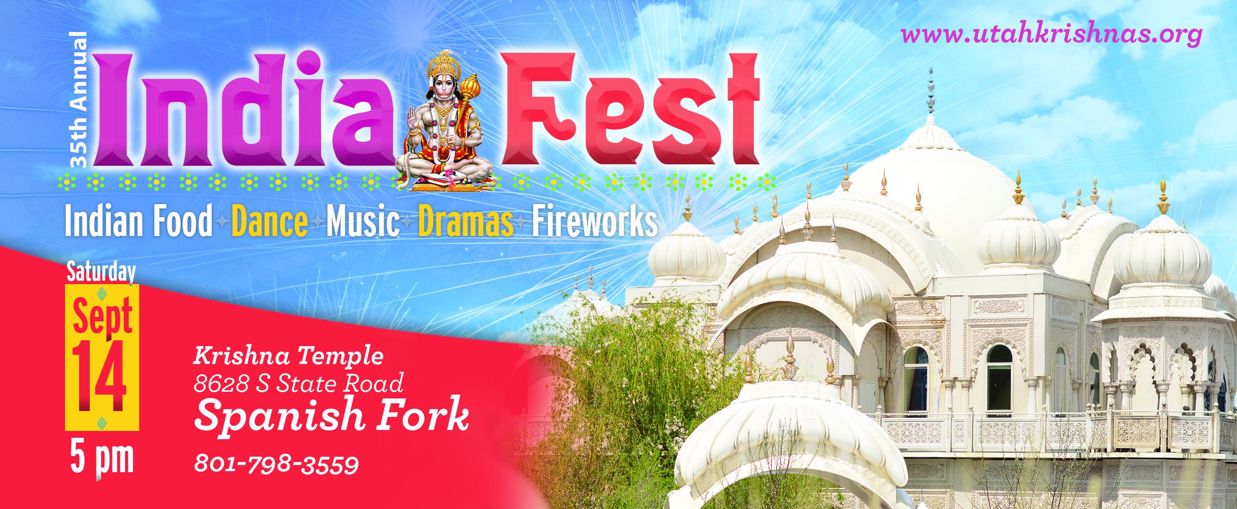 Spanish Fork Color Festival 2020 SLC & Spanish Fork Krishna Temples   Radha Krishna Temple in Utah
