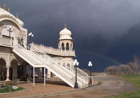 Sri Sri Radha Krishna Temple Rainbow